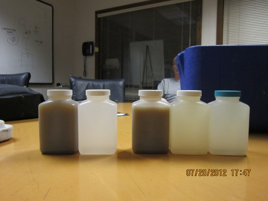 Victoria Estates Influent and Effluent Samples.