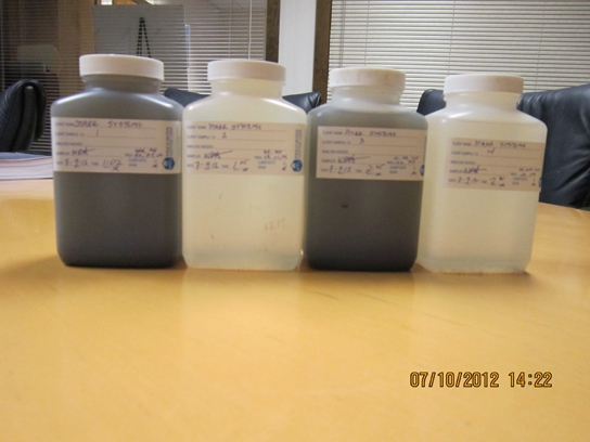 Influent and Effluent Samples.